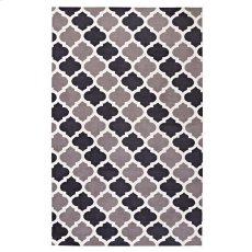 Lida Moroccan Trellis 5x8 Area Rug in Charcoal and Black Product Image