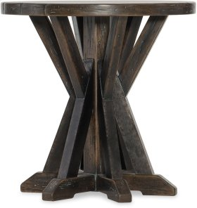 Roslyn County Round Lamp Table