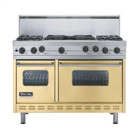 """Golden Mist 48"""" Sealed Burner Self-Cleaning Range - VGSC (48"""" wide, four burners & 24"""" wide wok/cooker)"""