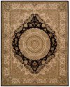 Nourison 2000 2233 Blk Rectangle Rug 7'9'' X 9'9''