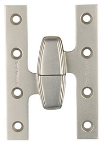 "5.0"" X 3.2"" Left Hand Art Deco Olive Knuckle Hinge"