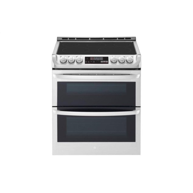 LG Appliances 7.3 cu. ft. Smart wi-fi Enabled Electric Double Oven Slide-In Range with ProBake Convection® and EasyClean®
