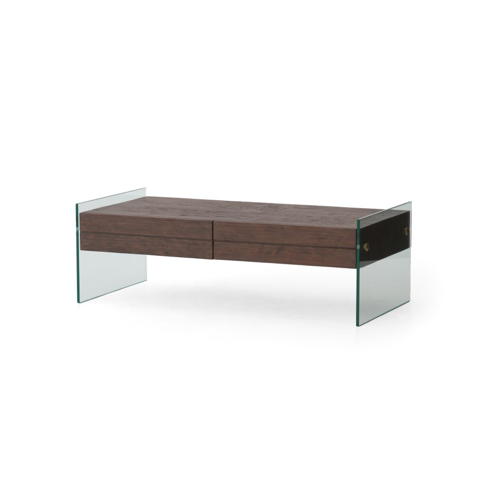 Attractive Cinder Brown Finish Houston Coffee Table