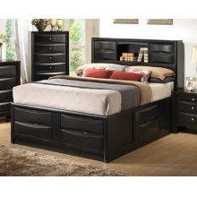 Briana Transitional Black Queen Bed