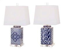 Carolina Hand-painted Ceramic Lamp - Ast 2