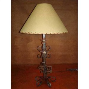 Texas Map Metal Lamp