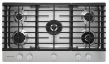 36'' 5-Burner Gas Cooktop with Griddle - Stainless Steel