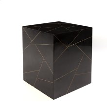 Hepburn Stool-Black/Brass Filet