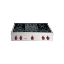 "36"" Sealed Burner Rangetop - 4 burners, Charbroiler"