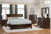 California King Low Profile Sleigh Bed