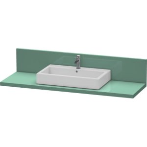 Console + Back Panel For Above-counter Basin And Vanity Basin, Jade High Gloss Lacquer