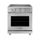 """30"""" Heritage Gas Pro Range, Silver Stainless Steel, Liquid Propane Product Image"""