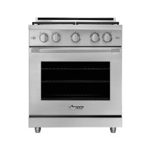 """30"""" Heritage Gas Pro Range, Silver Stainless Steel, Natural Gas"""