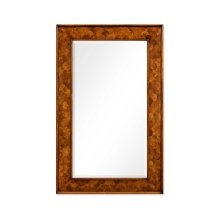 "Walnut & Oyster ""Fish Scale"" Rectangular Mirror"