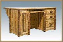 Glacier Country Log Executive Computer Desk