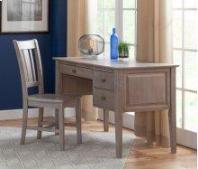 2-Drw Executive Desk Weathered Grey
