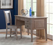 2-Drw Executive Desk Taupe Gray