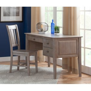 JOHN THOMAS FURNITURE2-Drw Executive Desk Taupe Gray