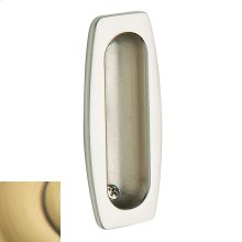 Satin Brass and Brown Flush Pull
