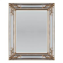 RECTANGULAR MIRROR W/FLORAL DÉCOR