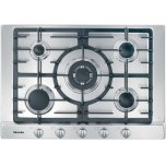 Gas cooktop with 5 burners for particularly versatile cooking convenience.