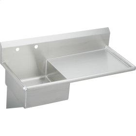 """Elkay Stainless Steel 49-1/2"""" x 24"""" x 10, Wall Hung Service Sink"""