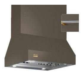 "36"" Wide Island Hood, Brass Accessory Rail on front, back and both sides"