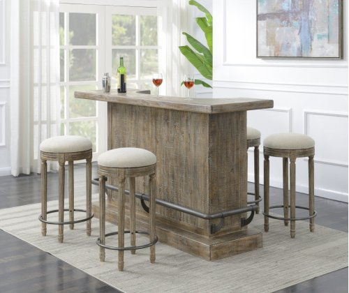Emerald Home Ac560-07 Interlude Bar, Sandstone Gray