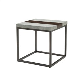 Emerald Home Stoneworks End Table-wood-concrete-metal Merlot/ Natural Stone T517-01