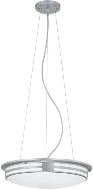 Fluor. Ceiling Lamp, Silv/wht Acrylic, Cir. Bulb T9 22w+32w