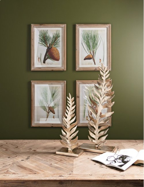 Evergreen Botanical Wall Decor - Ast 4