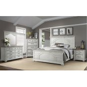 1053 Vintage Revival Queen Bed with Dresser and Mirror