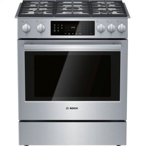 Bosch800 Series Gas Slide-in Range 30'' Stainless steel