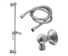 Slide Bar Handshower Kit - Porcelain Lever Handle With Line Base