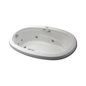 "Easy-Clean High Gloss Acrylic Surface, Oval, Whirlpool Bathtub, Standard Package, 42"" X 60"""