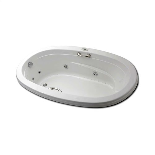 "Easy-Clean High Gloss Acrylic Surface, Oval, Whirlpool Bathtub, Standard Package, 42"" X 60"""