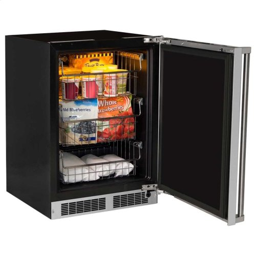 """24"""" Marvel Professional Freezer - Panel-Ready Solid Overlay Door with Lock - Integrated Left Hinge (handle not included)*"""