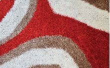 Shaggy rug, Brown Red and White color
