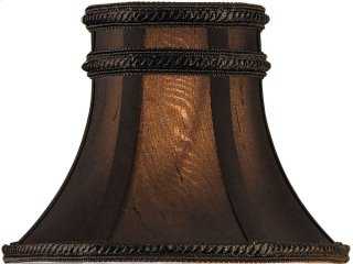 Charcoal Brown Silk Shade - 3 x 6 x 4.5