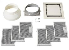 Non-duct recirculation kit for use with the BEST® CC34 Cirrus ceiling hood