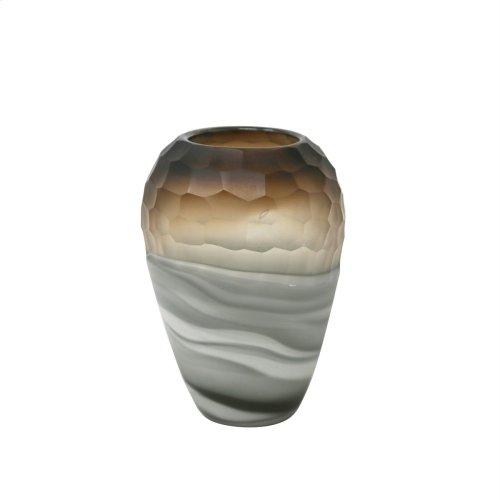 """Glass Vase 10.5"""", Multi"""