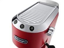 Dedica DeLuxe Manual Espresso Machine, Cappuccino Maker Red EC685W