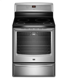 (Discontinued Floor Model 1 Only) 6.2 cu. ft. Capacity Induction Range with EvenAir True Convection