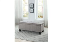 Lift-Top Storage Bench, Gray