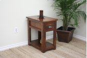 A-R251 Rustic Alder Chair Side Table