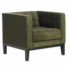 Roxbury Arm Chair In Tufted Green Fabric