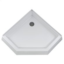 Town Square 38 Inch by 38 Inch Neo Angle Shower Base - White