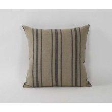 20x20 Blue Stripe Pillow