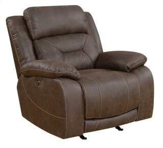 Aria Power Headrest Recliner, Saddle Brown