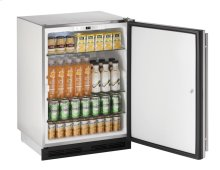 """24"""" Outdoor Refrigerator Stainless Solid (Lock) Field Reversible"""